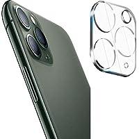 واقي لعدسة الكاميرا لموبايل ايفون 11 برو ماكس وايفون 11 برو يتكون من طبقة من الزجاج المقوى واطار معدني للعدسات الخلفية