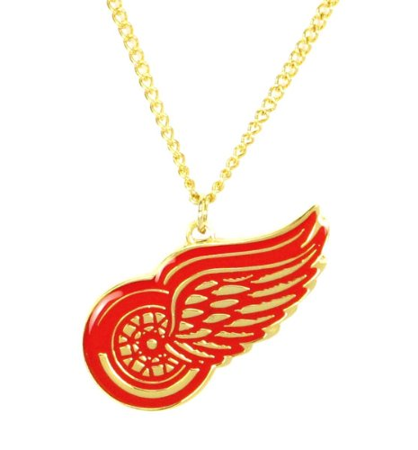 Detroit Red Wings Logo Charm (NHL Detroit Red Wings Sports Collegiate Team Logo Chain Necklace Charm Fan Gift)