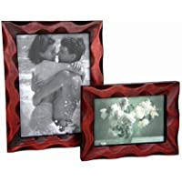 Handmade Natural Wood Photo Frame Set 2 Pcs Set