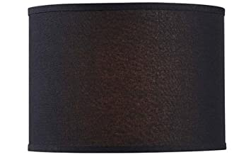 Amazon drum lamp shade 14 linen black baby drum lamp shade 14quot linen mozeypictures Image collections