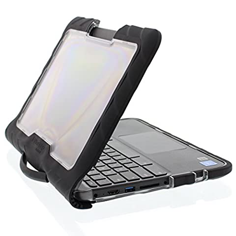 Gumdrop Cases Droptech Chromebook Case for Lenovo N23 Chromebook Rugged Shock Absorbing Cover Black/Black (Military Grade Laptop Protector)