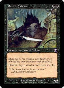 Dauthi Slayer (Magic the Gathering : Time Spiral Timeshifted #41 Rare) (Time Spiral Timeshifted Magic)