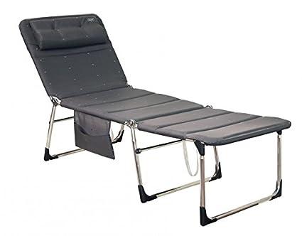 Sedie A Sdraio Imbottite : La qualità sedia a sdraio crespo antracite alta cm e