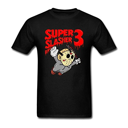 SUNRAIN Men's Jason Voorhees Friday The 13th Art T Shirt (Jason Voorhees Clothes)