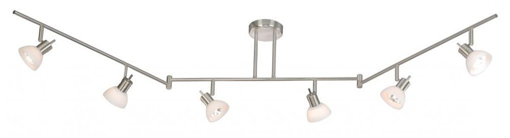 Vaxcel SP53566SN Como 6 Light Swing Track Bar, Satin Nickel Finish