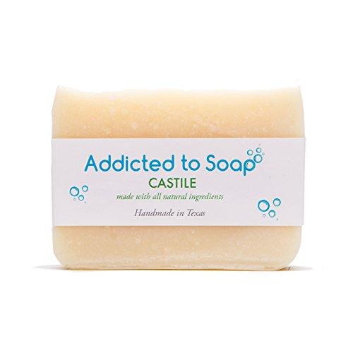 Addicted to Soap – Old Fashioned Natural Shampoo Bar 5 Ounces Eco-Friendly Solid Bar Shampoo for Men & Women Organic Coconut Oil Sulfate Free Leaves Hair Shiney Soft (Castile Shampoo Bar) (Bar Apple Organic)