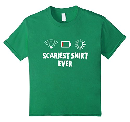 Kids Cool Scariest Shirt Ever T-Shirt Halloween Costume T Shirt 12 Kelly Green (Scariest Girl Costumes)