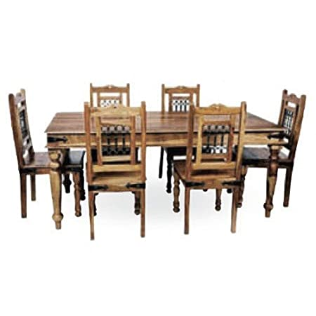 Mercers Furniture Indian Dining Table And 6 Chairs   Indian Rosewood, 170 Cm
