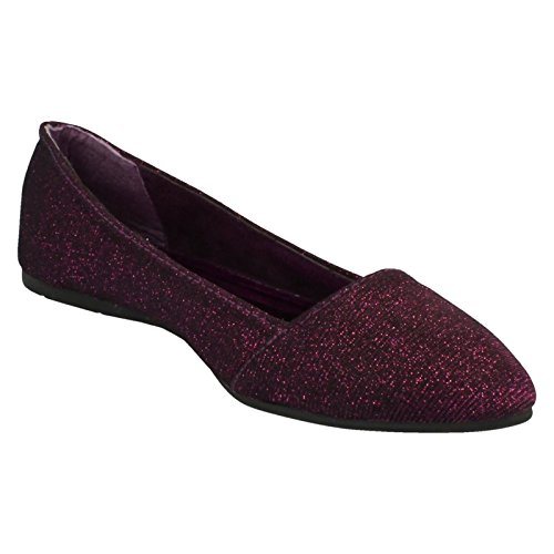 Flat Spot Purple Ballerina Pointed Ladies On On Toe Slip qERwpEB