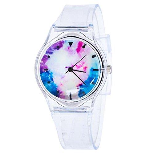 Kids Watch,Roumin Cute Student Casual Outdoor Sports Beautiful Watch (White Blue)