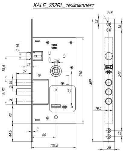 Kale KILIT 252RL (Turquía) - Candado de seguridad para puerta: Amazon.es: Bricolaje y herramientas