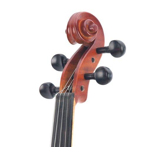 Cecilio CVA-500 16.5-Inch Ebony Fitted Solid Wood Viola by Cecilio (Image #3)