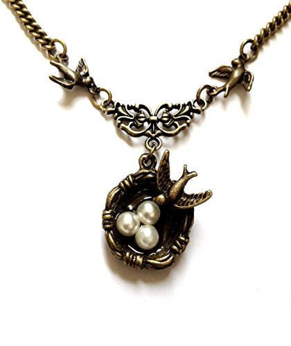 Vintage Birds Nest Bronze Necklace - Boxed & Gift Wrapped