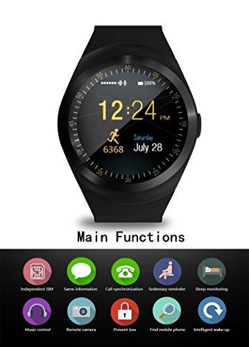 SEPVER Smart Watch SN05 Round Bluetooth Smartwatch with ...