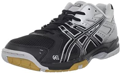 ASICS Men's GEL-Rocket 6 Volleyball Shoe,Black/Silver,10 M US