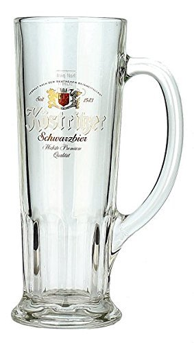 Kostritzer German Beer Mug Glass 0.5 Liter (1/2 Liter German Beer)