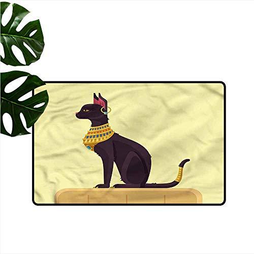 (Interesting Doormat Egypt Ancient Times Mystical Cat Personality W31 xL47)