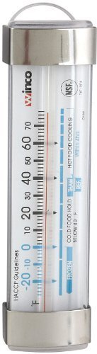 Winco Refrigerator/Freezer Thermometer with Suction Cup, 3-1/2-Inch by 1-1/8-Inch by Winco