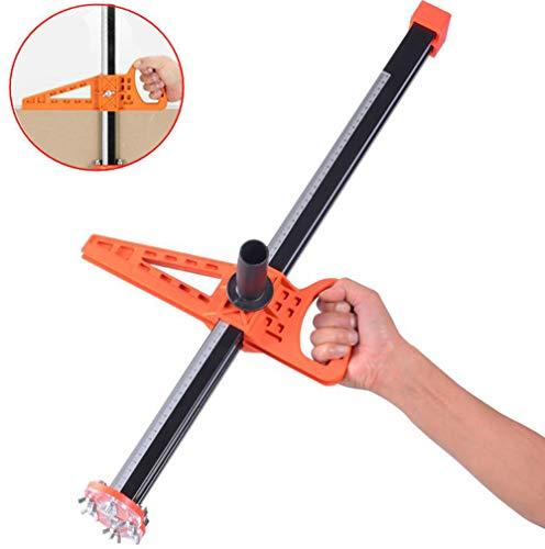 Drywall Board - Aquarius CiCi Manual Gypsum Board Cutter Artifact Tool Hand Push Drywall Cutting with Double Blade and 4 Bearings 20-600mm Cutting Range(Orange)