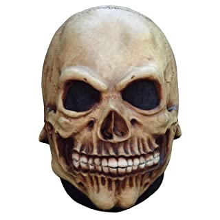 Skull Mask Entire Head Realistic Look Latex For Kids Junior Size