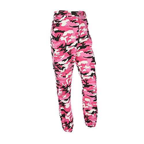 te libre Camo Rawdah Elegantes al moda más Casual y vaqueros Pantalones atractivo de Pantalones hacen de mujer de caliente Rosa Cargo camuflaje aire Pantalones 4qrw4PUx