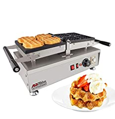 This high-quality Belgian Waffle Maker deliciously crispy and fluffy waffles fast and easy. It's all due to the heavy-duty commercial construction that can withstand high production volumes with exceptional quality. Originally made for making delicio...