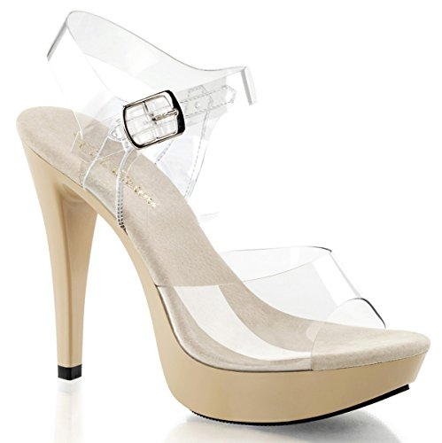 Fabulicious Cocktail-508 - sexy High Heels Plateau-Sandaletten 35-45