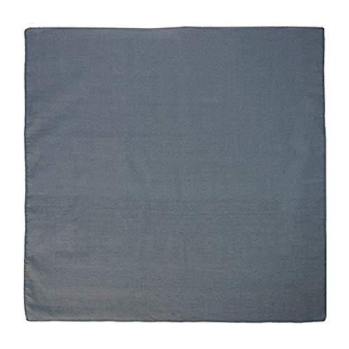 Basico 100% Cotton Head Wrap Bandanas 12 Pack with Tube Face Mask/Headband (Plain Charcoal)