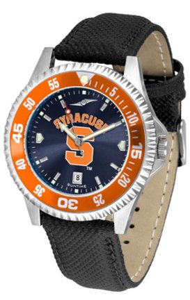 SunTime Syracuse Orangemen Competitor AnoChrome Men's Watch with Nylon/Leather Band and Colored Bezel ()