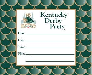 Westrick Paper Kentucky Derby 145th Dated Party Invitations - 8 Cards w/env.