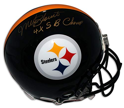 (Mel Blount Pittsburgh Steelers Autographed Pro Line Helmet Inscribed 4X SB Champ - Certified Authentic Signature)