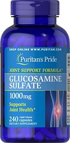 Puritan's Pride Glucosamine Sulfate 1000 Mg Capsules, 240Count