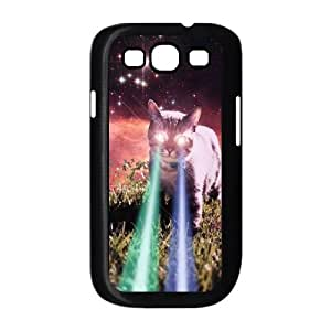 Lycase(TM) Cat With Lasers Custom Durable Hard Back Plastic Case, DIY Cat With Lasers Samsung Galaxy S3 I9300 Case
