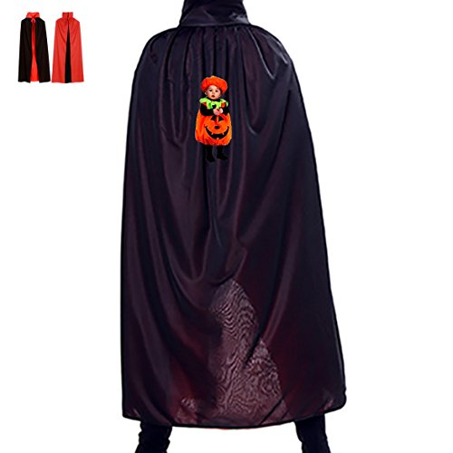 Pumpkin suit kids Unisex Halloween Cape Children Adult Cloak Holiday Dress Up Fashion (Adult Pumpkin Suit And Tie Costumes)
