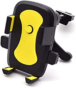 Universal 360 Rotation Car Air Vent Mount Cradle holder Stand for Cell Phone GPS cell phones GPS devices 5.0 7.5CM iPhone Samsung HTC Blackberry Black and Yellow