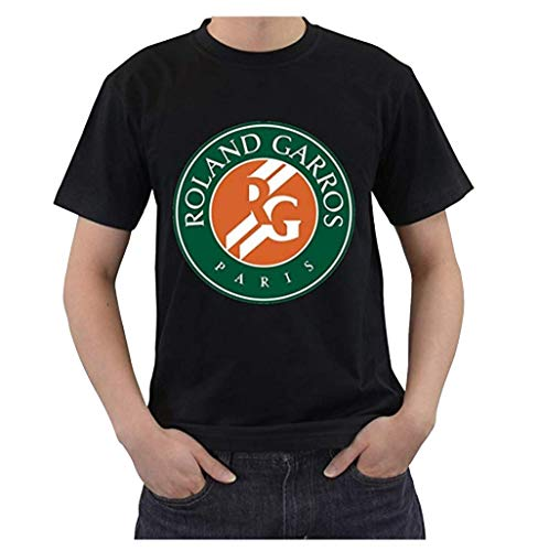 - Open Roland Garros Men's French Grand Slam Tennis T Shirt Large Black
