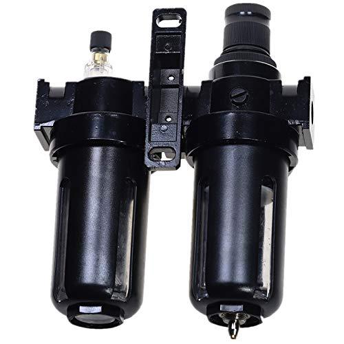 CUHAWUDBA Regulador de Filtro de Aire Neum/áTico Combinaciones de Lubricador Separador de Aceite de Agua 1//2 Pulgada Negro SFC-200 0-1Mpa 0-150PSI