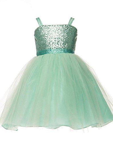 2da69c373cd JM Dreamline Sequin Top Overlay Tulle Skirt Flower Girls Dresses - Buy  Online in UAE.