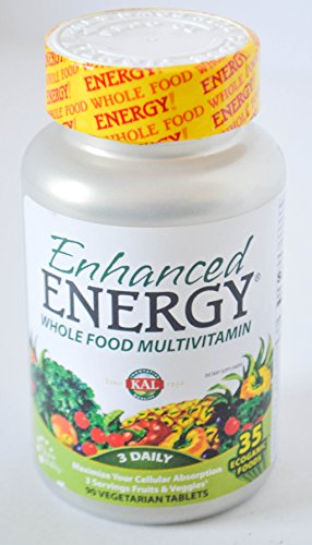 Cheap Enhanced Energy Whole Food Multivitamin 3 Daily 90 Vegetarian Tablets