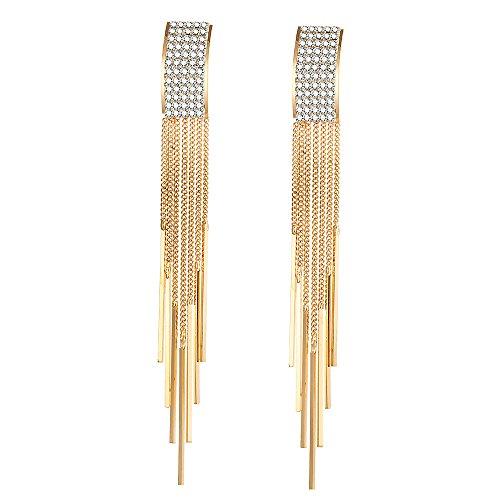 Shining Diva Fashion Jewellery Latest AAA Diamonds Stylish Tassel Earrings For Women and Girls