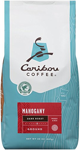 Caribou Coffee, Mahogany Mystical Roast, 20 oz. Bag, Dark Roast Blend of El Salvador, Sumatra, & Guatemala Coffee Beans, Earthy, Dark, & Foolhardy, with A Raw Sugar Finish, Arabica Coffee; Sustainable Sourcing