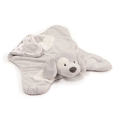 Gund Baby Spunky Dog Comfy Cozy Blankey, Gray