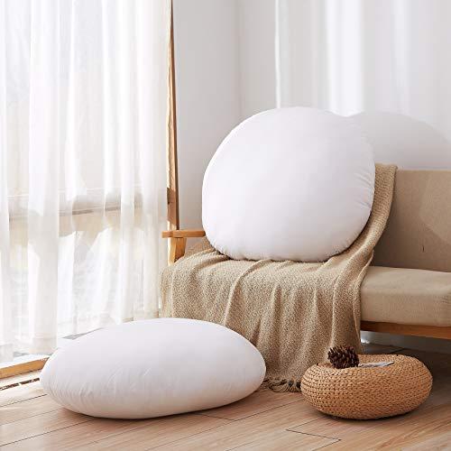 Acanva Round Floor Pillow Insert, Soft Hypoallergenic Cushion Form Stuffer, 32