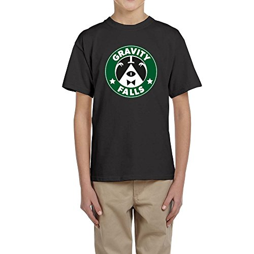 Price comparison product image Bill Cipherin Starbucks Gravity Falls YOUTH Short Sleeve