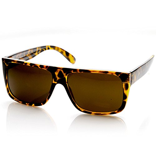 zeroUV - Classic Old School Eazy E Square Flat Top OG Loc Sunglasses - Sunglasses Tortoise Or Black