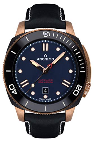 Anonimo nautilo Mens Analog Automatic Watch with Leather Bracelet AM100208005A05
