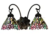 Wisteria Tiffany Stained Glass Tiffany Wall Sconce 17 Inches W