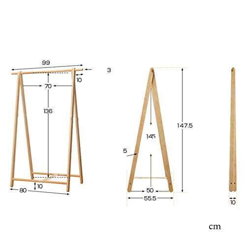 Amazon.com: JiaQi - Perchero plegable de madera de pino ...