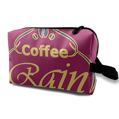 Cute Multi-functional Travel Cosmetic Bag Coffee Rain And Books Best Coffee -