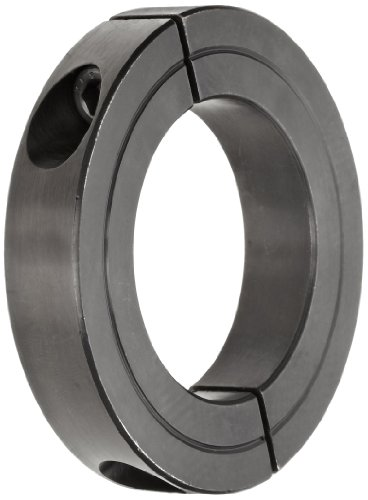 Climax Metal H2C-162 Recessed Screw Clamping Collar, Two Piece, Black Oxide Plating, Steel, 1-5/8